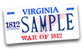 War of 1812 License Plate